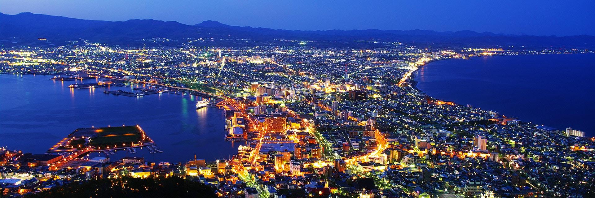 日本、北海道、函館夜景